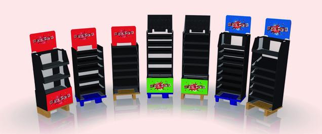 Boomer-Display: Entry-level merchandise unit
