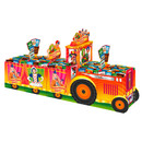 Moving van as secondary display for confectionery in the carnival season.