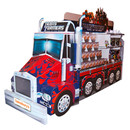 Oversized corrugated board display of Optimus Prime Truck