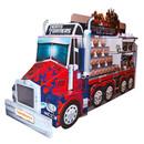 Überdimensionaler Pappaufsteller des Optimus Prime Truck