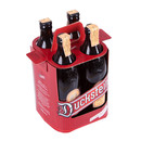 Folding box in the form of 4-bottle carrier for beer.