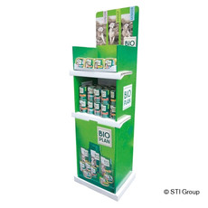 Corrugated board display for pet food