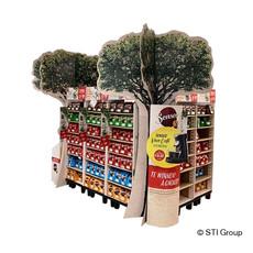 Attention-grabbing logistics display for Senseo