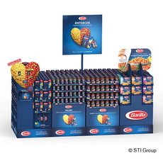 Instore theatre created using standard displays