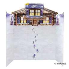 Promotional display for Milka
