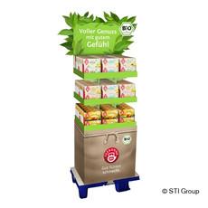 FSC® display for organic tea