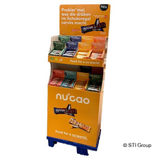 FSC® display for vegan snacks
