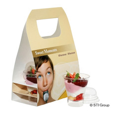 Product packaging for take-away desserts